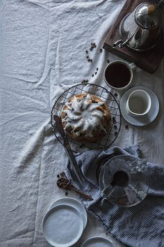 blueberry & rosemary brown butter cake + buttermilk glaze x velo coffee by Beth Kirby | {local milk}, via Flickr