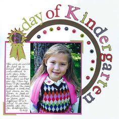 1st day of Kindergarten page
