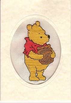Pooh Card exchange - Counted Cross Stitch