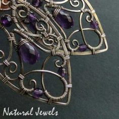 Surrender to Purple - Exclusive silver earrings with gemstones of Amethyst - Made by Natural Jewels
