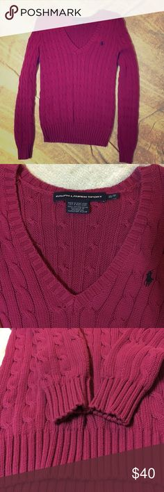 Ralph Lauren sweater NWOT Never worn without tags Ralph Lauren sweater. Hubby got it for me as a gift but I guess he thinks I'm a lot skinnier than I am cause he got me an XS 😂 Ralph Lauren Sweaters V-Necks