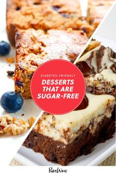 Having diabetes shouldn't mean you have to miss out on all the sweet treats everyone else is eating. Luckily, you don't have to, with the help of these 12 sugar-free desserts. #sugar #free #desserts Clean Eating For Beginners, Clean Eating Recipes For Dinner, Clean Eating Meal Plan, Dinner Recipes, Healthy Desserts, Healthy Recipes, Sugar Free Desserts, Food Is Fuel