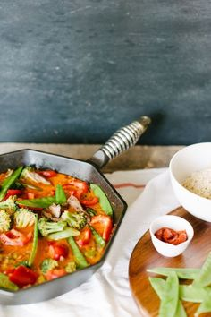 Recipe for Thai Red Curry  PLUS you could win this Finex Cast Iron Skillet!!   Rue
