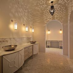 Love any lighting fixture that casts a shadow.  Bathroom Morrocan Bathrooms Design, Pictures, Remodel, Decor and Ideas