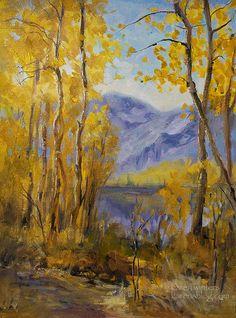landscape impressionist art paintings   Fall Landscape Oil Painting - California impressionist art - Silver ...