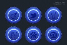 Free Blue color social icon set PSD Freebie - PSDfinder.co
