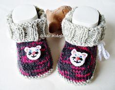 Babyschuhe  Babystiefel  von strickliene babyschuhe auf DaWanda.com
