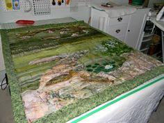 Risultato immagine per How To Do Landscape Quilting
