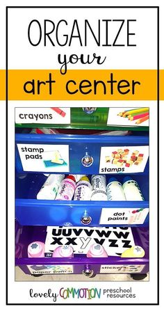 Preschool Art Center Storage Too many art supplies in your classroom art center? It is disorganized? Is your art center to limited? Come learn a simple solution that has saved my preschool art center! Art Center Preschool, Free Preschool, Preschool Activities, Preschool Classroom Centers, Prek Literacy, Preschool Prep, Preschool Bible, Preschool Alphabet, Art Classroom
