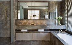 News and Trends from Best Interior Designers Arround the World Bathroom Toilets, Bathroom Spa, Modern Bathroom, Master Bathroom, Masculine Bathroom, Bathroom Marble, Industrial Bathroom, Simple Bathroom, Bathroom Vanities
