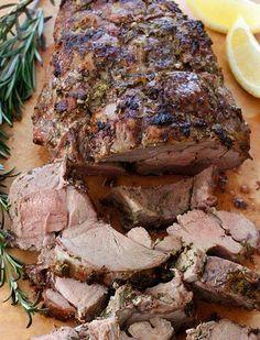 Herb and Garlic Roasted Leg of Lamb.