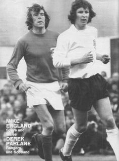 May Wales centre half Mike England shadowing Scotland centre forward Derek Parlane in the Home International, at Ninian Park. Retro Football, Golden Age, Wales, Scotland, Centre, England, Park, Fictional Characters, Parks