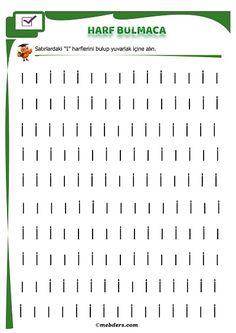 1.Sınıf İlk Okuma Harf Bulmaca - I Sesi | Meb Ders