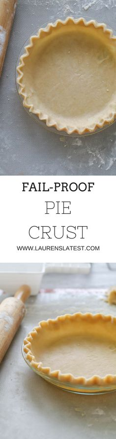 An easy, simple and SUPER FLAKY PIE CRUST recipe to use for all your dessert needs!!