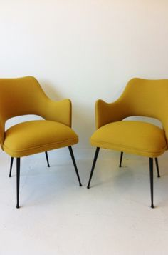Pair of 1950s Italian easy chairs