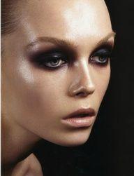 Dewy skin &   smoky eyes