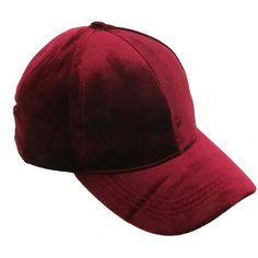 Velvet Fashion Cap ❤ liked on Polyvore featuring accessories, hats, burgundy hat, adjustable caps, cap hats, velvet hat and burgundy cap