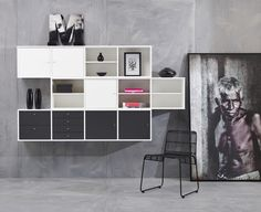 Flexibel förvaring av vår tillverkare Hammel. EM Möbler - Mistral. Shelving, The Unit, Home Decor, Shelves, Decoration Home, Room Decor, Shelf, Interior Design, Home Interiors