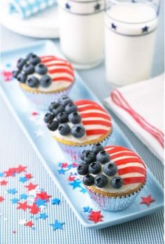 Fourth of July Cupcakes  #fourth #of #july #fourthofjuly #party #idea #ideas #funideas #coolideas #food #foodie #yum #independence #day #family #fun #cookout #cookouts #grill #dessert #desserts #cupcake #cupcakes  www.gmichaelsalon.com
