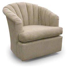 Chairs Swivel Barrel ELAINE Best Home Furnishings