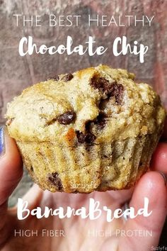 Looking for the ultimate healthy chocolate chip banana bread muffin recipe? LOOK NO FURTHER. High protein, high fiber, gluten free ready, and easy to make, these are perfect for meals and snacks! Friday Catch Up at the end of the post! @suzlyfe http://suzlyfe.com/healthy-chocolate-chip-banana-bread-muffins-high-protein-fiber-gluten-free/