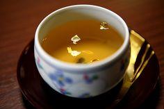 Green Tea with Gold    Gold Leaf Musuem, Kanazawa, Japan