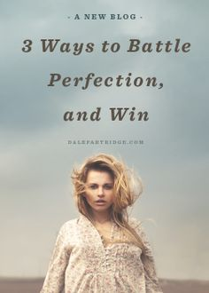 Powerful read.   http://dalepartridge.com/making-mistakes-better-faking-perfections/
