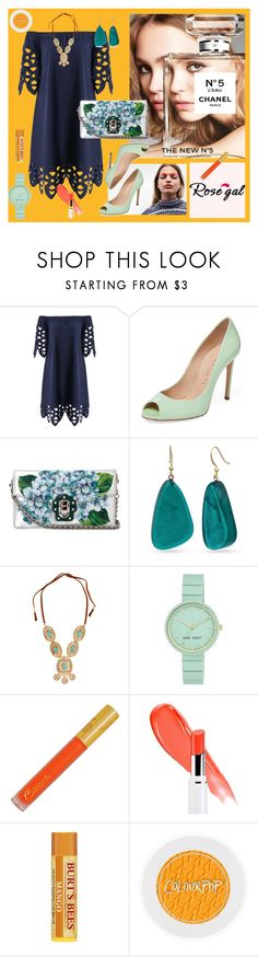 """""""My new mood"""" by anelia-georgieva ❤ liked on Polyvore featuring Chanel, Casadei, Dolce&Gabbana, Kim Rogers, Lydell NYC, Nine West and Lancôme"""