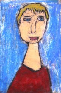 self portrait lessons for kids | Art Lessons For Kids-- use steps learned at SAMA (use hands to trace face and identify shapes-- oval, triangle, etc.)-- how to do texture of hair.