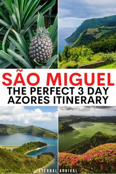 Going to visit the Azores, Portugal? Here's how to spend 3 days on Sao Miguel, the biggest island in the Azores islands. 3 days in Sao Miguel Azores | Sao Miguel Azores itinerary | things to do in Sao Miguel | cool things to do in Sao Miguel | things to do in the Azores | Sao Miguel itinerary | 3 day Azores itinerary | Ponta Delgada itinerary | 3 days in the Azores | 3 day Sao Miguel itinerary Portugal Destinations, Portugal Vacation, Portugal Travel, Spain Travel, Travel Usa, Travel Destinations, Visit Portugal, Spain And Portugal, European Vacation