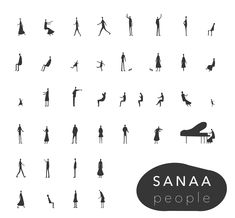 Free 40 Sanaa People Dwg, Ai, Pdf Download Link; www.toffu.co/toffucad-people For More; www.toffu.co Sanaa Architecture, Architecture People, Architecture Graphics, People Png, Drawing Expressions, Architectural Section, People Illustration, Pictogram, Planer