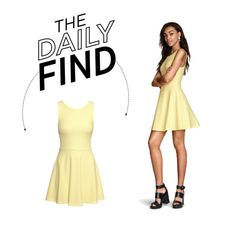 """Daily Find: H&M Circular Dress"" by polyvore-editorial ❤ liked on Polyvore featuring H&M and DailyFind"