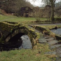 Wycoller hall ruins - it was said to be the inspiration for Heathcliff''s house in Wuthering Heights. The Bronte sisters lived near this area