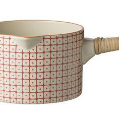 Casserole en céramique avec motif rouge Carla Bloomingville