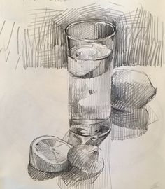 Daily sketch by Sarah Sedwick. Daily sketch by Sarah Sedwick. Pencil Art, Pencil Drawings, Art Drawings, Basic Drawing, Drawing Sketches, Drawing Ideas, Sketching, Academic Drawing, Still Life Drawing