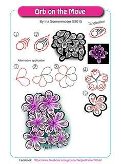 Orb zentangle pattern