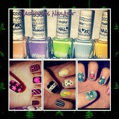 #NailArt #Color #Diseño Nailart, Convenience Store, How To Make, Butterflies, Colors, Convinience Store