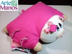Animal Pajama Pillow in Lency Cloth Animal Pajamas, Cute Cat Wallpaper, Hand Embroidery Stitches, Baby Pillows, Diy And Crafts, Youtube, Animals, Beauty, Doll Tutorial