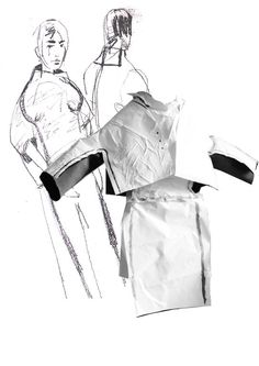 Fashion Sketchbook - jacket design development; fashion drawings; fashion portfolio // JiaXin Gao