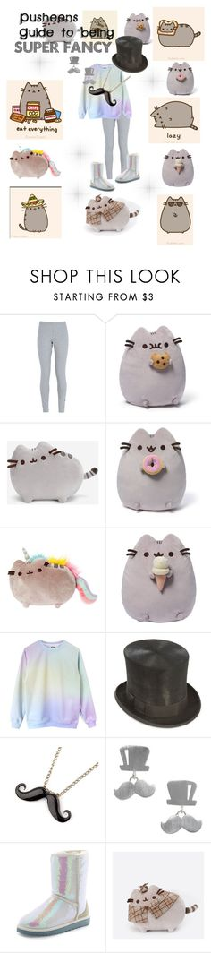 """""""Pusheen's Guide to being: SUPER FANCY"""" by ruffledew ❤ liked on Polyvore featuring NIKE, Gund, Pusheen, NOVICA and UGG Australia"""