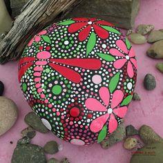Rock Hand gemalt Rock Rock Art malte Stein Hand bemalten