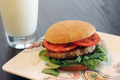 Skinny Worcestershire Turkey Burger-Made without the Worcestershire and Steak seasoning and still turned out incredibly flavorful with italian bread crumbs in place of whole wheat