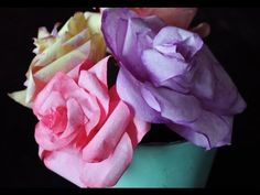 ▶ DIY Coffee Filter Roses (free template) - YouTube