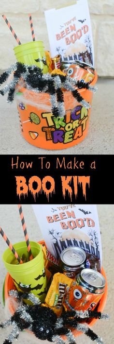 BOO It Forward with a cute BOO Kit! Surprise friends and family with fun Halloween treats!