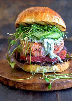 Wild Greens and Sardines : Sumac and Thyme Salmon Burgers // wildgreensandsardines