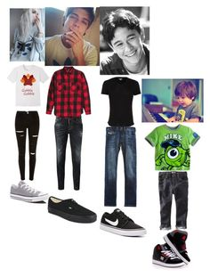 """""""OOTD, Hanging with the family and Happy Thanksgiving!!-Hayden, John, Noah and Danny"""" by five-seconds-of-twentyone-pilots ❤ liked on Polyvore featuring Converse, Dsquared2, Vans, Orlebar Brown, Diesel, NIKE, Disney and DC Shoes"""