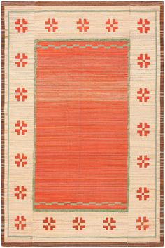 Vintage Scandinavian Swedish Kilim 47144 Detail/Large View - By Nazmiyal