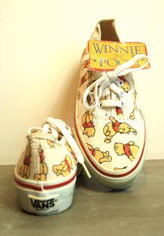 Vintage Deadstock Winnie the Pooh Vans - Rare -  Disney Vans - USA Made on Etsy, $222.52 CAD