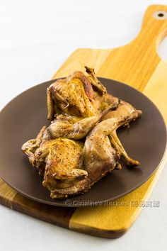 Baked Salt and Pepper Quails  - delicious and quick dish, perfectly served as an appetizers or a main.