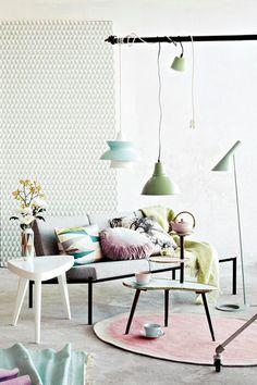 retro pastel home decor-σαλονι σε διακοσμηση σε ρετρο παστελ αποχρωσεις